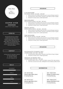 cv-template-vesper-1-pagina-zwart-combi-a4-nl-1